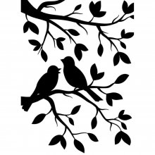 Папка для тиснения - Darice - Embossing Folder - Birds Branch