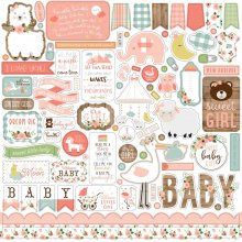 Наклейки Echo Park - Baby Girl - Elements Stickers