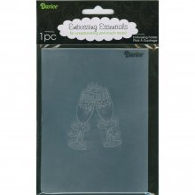 Папка для тиснения Darice - Embossing Folder - Toasting Glass 10,8х14,6см