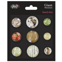 Украшения Glitz Design - French Kiss Giant Rhinestones, 9 шт