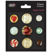 Украшения Glitz Design - Happy Travels Giant Rhinestones, 9 шт