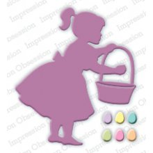 Нож IoStamps - Girl with Easter Basket - DIE260-I