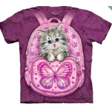 Дизайнерская футболка The Mountain - Backpack Kitty Kids