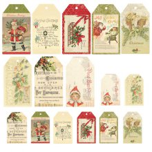 Теги Melissa Frances - Deck The Halls Tag Collection 16шт.