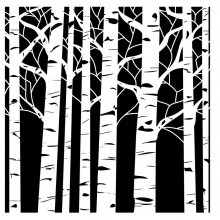 Маска Crafters Workshop - Aspen Trees 15х15 см