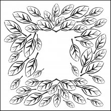 Маска Crafters Workshop - Leaf Frame 30х30 см