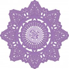 Нож Prima Marketing - Purple Metal: Crochet Doily - 9,5 см
