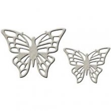 Чипборд Fabscraps Craft : Die-Cut Grey-Chipboard Embellishments-Full Butterfly