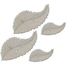 Чипборд Fabscraps Craft :Chipboard Embellishments-Feathers