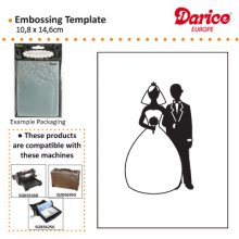Папка для тиснения Darice- Embossing Folder - Bride & Groom