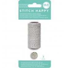 Нить We R - Stitch Happy Twine - Gray