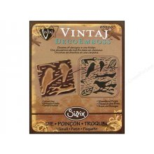 Папка для тиснения Sizzix DecoEmboss Embossing Folder  by Vintaj - Woodland Birds
