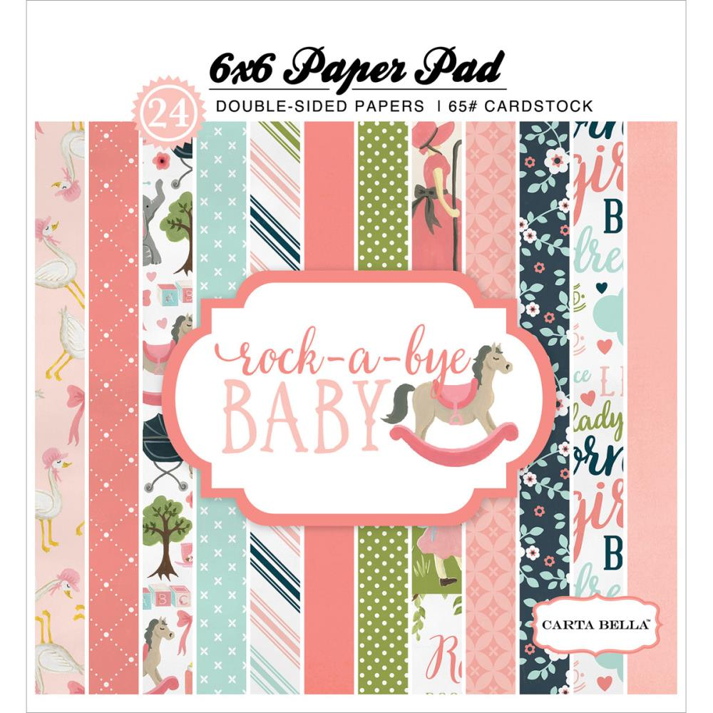 Набор двусторонней бумаги  Carta Bella - Double-Sided Paper Pad - Rock-A-Bye Baby Girl