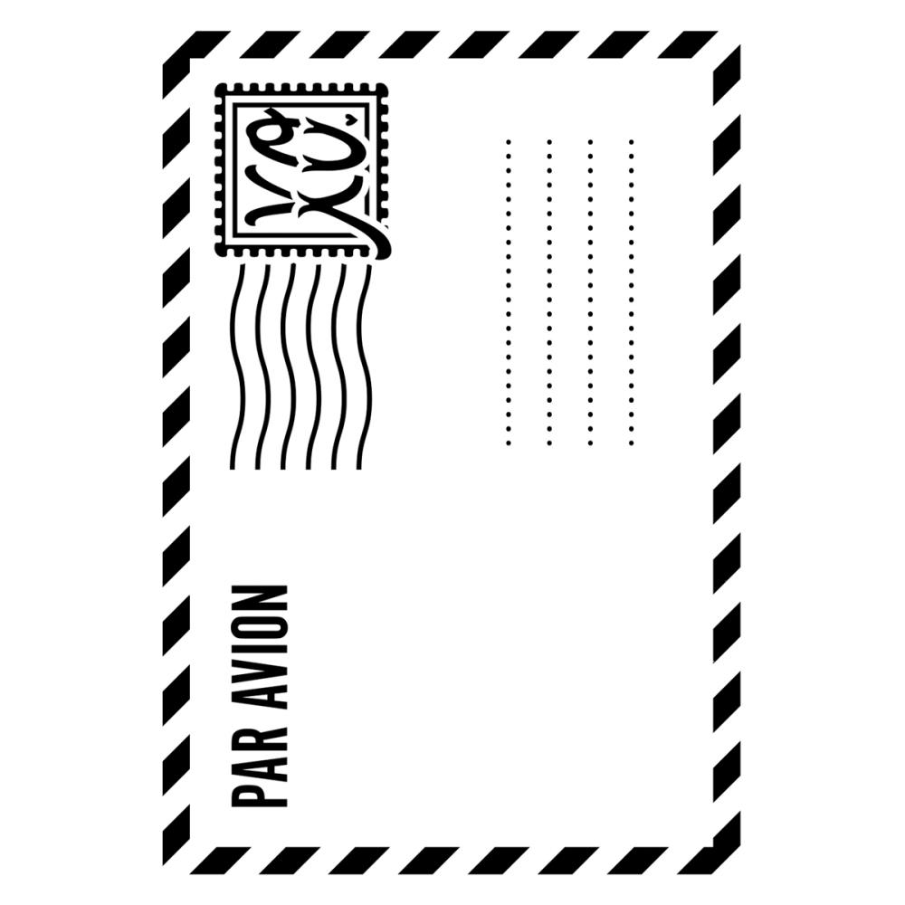 Папка для тиснения - Darice - Embossing Folder - Air Mail Envelope