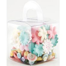 Набор Making Memories  Blossoms & Buttons Box Kit 160 Pieces - Lemonade